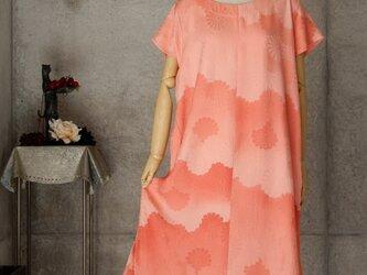 着物リメイク チュニックワンピース/ LL /菊の花の画像