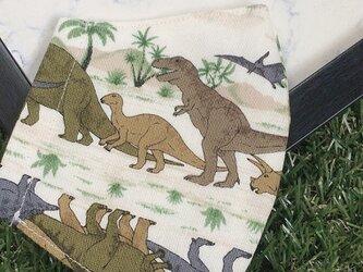 立体マスク キッズ オトナ 恐竜 ティラノサウルスの画像