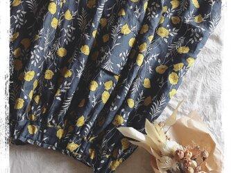 リネン花柄スカート(yellow)の画像