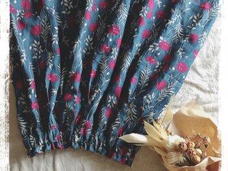 リネン花柄スカート(pink)の画像