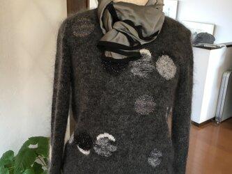 水玉模様のセーター ドット模様の方がカッコイイかなの画像