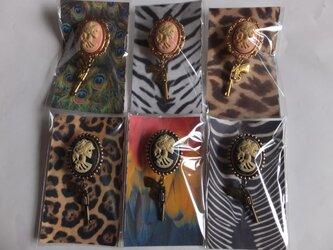帯留め 和装小物 Skull Lady 2色 小の画像