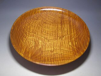 広島県産 欅の縮杢を用いた 拭き漆仕上げの 盛器の画像