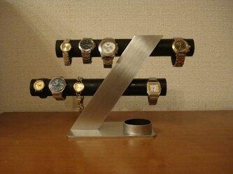クリスマスプレゼントに ブラック6~8本掛けデザイン腕時計スタンド AKデザインの画像