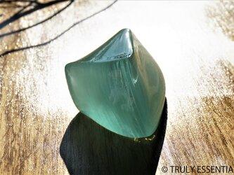 ガラスのインテリアオブジェ - 「 かくいガラス」 #505 ● 約12cmの画像