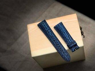 【高級革使用】サメ革 シャークスキン Applewatchベルト 腕時計 バンド 本革の画像