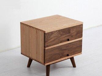 オーダーメイド 職人手作り キャビネット プリンター台 収納棚 サイドボード 無垢材 天然木 ウォールナット材 LR2018の画像