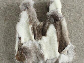 ¶ new antique fur ¶ エコバッグ型ミックスフォックスファーバッグの画像