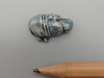 動物石 カバ(水色)の画像