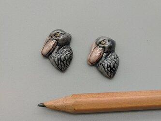 動物石 ハシビロコウの画像