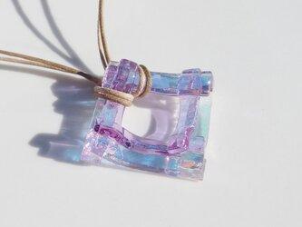 【Premium】色が変わる輝き重ねガラス『かがやきがさね【マジック】』ネックレス【受注制作】の画像