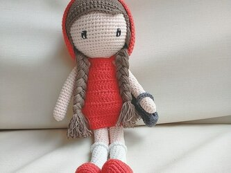あみぐるみ 人形 ニットトイ ドール 編みぐるみ プレゼント ハンドメイド  出産祝い 女の子 お部屋飾り クリスマスの画像