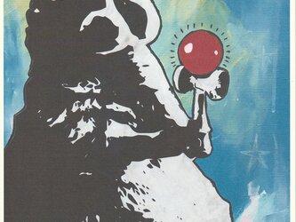A4サイズ オリジナルアートポスター ケンダマタヌキの画像