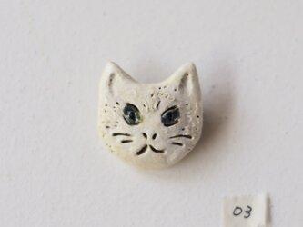 白ネコのブローチ 03の画像