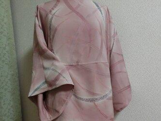 シンプルチュニック*スラッシュドネック 後ろ前でも着られる シルク 正絹 リメイクの画像