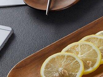 受注生産 職人手作り 木製トレー プレート キッチン雑貨 食卓 ウォールナット 天然木 木目 木工 無垢材 LR2018の画像