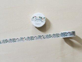 Cheerful forest マスキングテープ 15mm / ウサギの画像