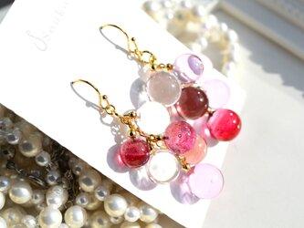 pink ballアシンメトリーピアス&イヤリング(ショートver.)の画像