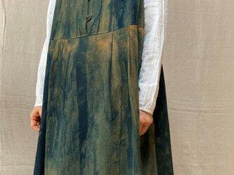 草木染チュニックワンピース(COTTON100%)の画像