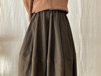草木染バルーンスカート(COTTON100%)の画像