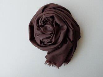 【new】enrica cottonsilk scarf coffeechocolate / botanical dyeの画像