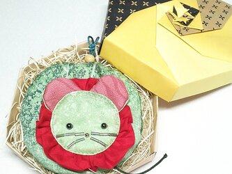 ねずみ丸(木漏れ日文様ねずみ丸、るぅ、ミニ丸ポーチ)の画像