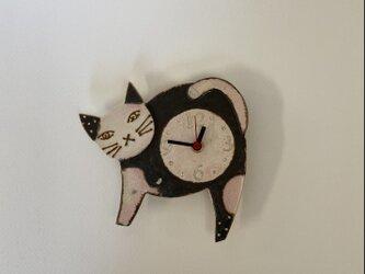 ねこ 掛け時計 (陶器) no.3の画像