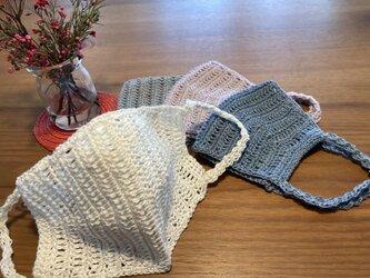 ★フレンチリネン&シルク★ ちょっと贅沢な手編みマクス の画像