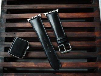 高級革 レザー使用時計ベルト メンズ時計ベルト 腕時計 皮 革 shell cordovan Horween社のシェルコードバンの画像
