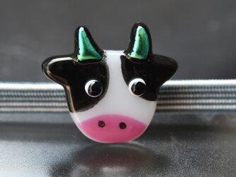 丑・牛の帯留め お正月の画像