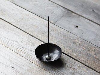 ころりとした錫のお香立て [ 香鉢 ]の画像