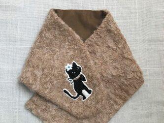 ~PJC黒猫クロッチ刺繍~ ウール ネックウォーマーの画像