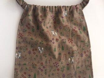 M:ゆるふわ*ふんどしパンツ(きつねと森の花)ダブルガーゼ フンティー  ふんどしショーツの画像