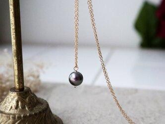 【14kgf】南洋真珠の一粒ネックレス*6月誕生石の画像