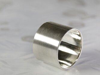 つや消し シルバーフラットリング 15.0mm幅 マット|SILVER RING 358の画像