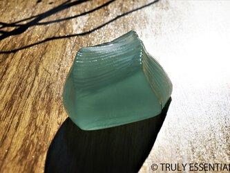 ガラスのインテリアオブジェ - 「 かくいガラス」 #508 ● 約10cmの画像