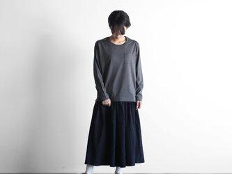 HUIS×yohakuギザコットン長袖カットソー(チャコールグレー)size2【ユニセックス】の画像