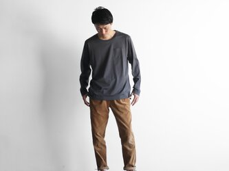 HUIS×yohakuギザコットン長袖カットソー(チャコールグレー)size3【ユニセックス】の画像