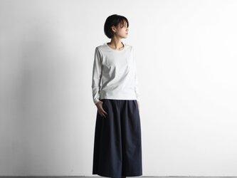 HUIS×yohakuギザコットン長袖カットソー(ベージュ)size1【ユニセックス】の画像