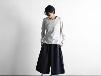 HUIS×yohakuギザコットン長袖カットソー(ベージュ)size2【ユニセックス】の画像