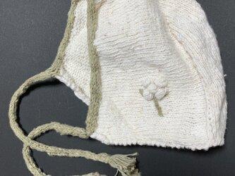 ベビー帽子(ボンネット)L②の画像
