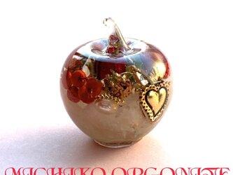 ハート 希少伝説のオリハルコン入り ケオン 幸福 恋愛 バラ色の人生 月のパワー 六芒星  りんごちゃん オルゴの画像