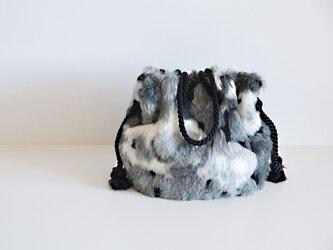 数量限定! イタリア製ジャガード レオパード ファーマリンバッグ シルバーグレーの画像