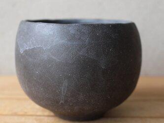 抹茶碗 筒茶碗ふう 茶道 黒土 の画像