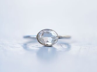 クリスタル(crystal)・クォーツ・水晶・天然石・一粒・シルバーリングの画像