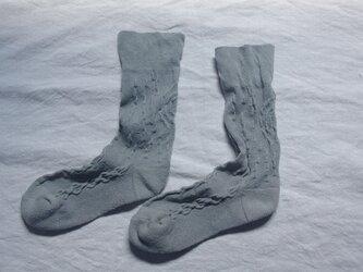 絹の靴下 snow forest greenの画像