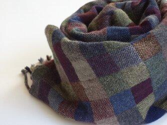 手織りカシミアストール・・ビター×ビターの画像