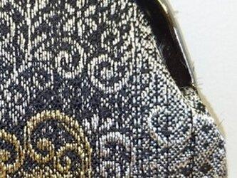 絹織物西陣織 2.6寸 ハート唐草の画像