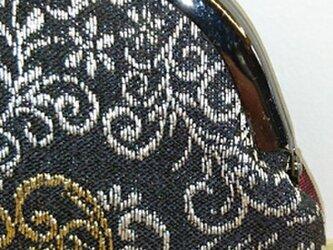 絹織物西陣織 2.6寸 ハート唐草 裏赤の画像
