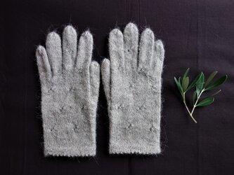 【受注制作】アルパカ糸の手袋/シナモンベージュ/22センチの画像
